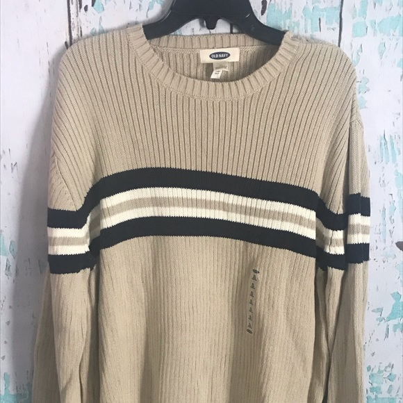 Old Navy Other - Men's tan sweater with stripes